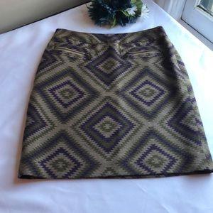 4/$25 EUC Print Skirt From Etcetera